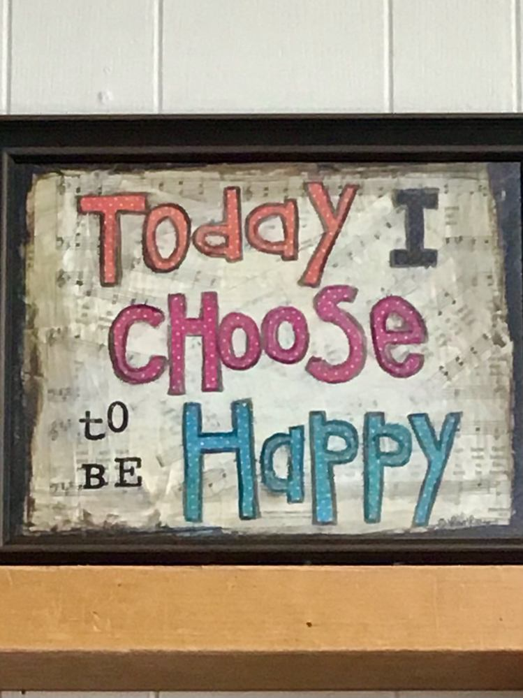 Sign: Today I Choose To Be Happy